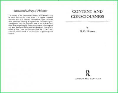 Dennett Content Consciousness